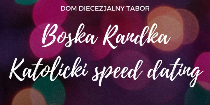 Boska Randka. Katolicki speed dating.