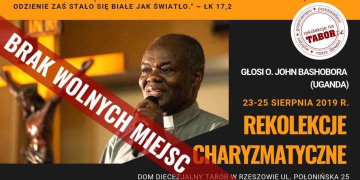 Rekolekcje z o. Johnem Bashoborą w Rzeszowie| 23-25 sierpnia 2019 r.